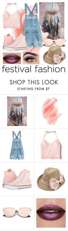"""""""Festival Fashion 😘"""" by klonowskih ❤ liked on Polyvore featuring Birchrose + Co., Hollister Co. and Converse"""