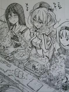 Creepy Drawings, Cute Food Drawings, Cool Drawings, Anime Artwork, Cool Artwork, Anime Illustration, Anatomy Art, Cool Sketches, Kawaii