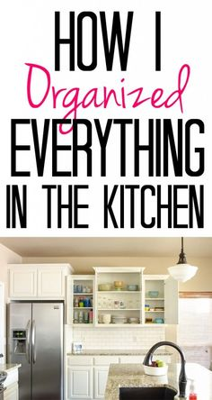 SPRING CLEANING TIPS! Kitchen a mess? This post shows how I organized everything from spices to Rubbermaid containers in our kitchen.