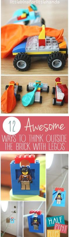 Lego Crafts, Fun Lego Crafts for Kids, Lego Activities, Things to Do With Legos, Fun Things to Do With Legos, Activities for Kids, Educational Activites for Kids, Popular Pin