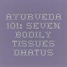 Ayurveda Seven Bodily Tissues- Dhatus Ayurvedic Recipes, Organic Recipes, Ayurveda, Metabolism, Healing, Organic Dinner Recipes
