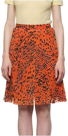 Cheetah print pleated skirt #Whistles