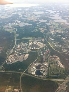 Aerial view of Walt Disney World