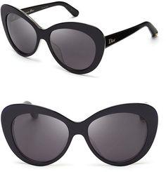 ec43d7bb5c Dior - Black Promesse Oversized Cat Eye Sunglasses - Lyst