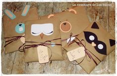 Owls: Gift Wrapping Idea for children Pinned by www.myowlbarn.com
