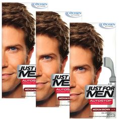3 x Just For Men Autostop Hair Colour Auto Stop - Choose Your Shade-Medium Dark Brown A40 *** Read more at the image link. #hairmake