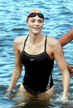 Pin for Later: Get to Know Princess Charlene of Monaco, the New Royal Mom!  The former Olympic swimmer participated in a swim to raise money for Special Olympics in February 2011. Source: Getty / Rajesh Jantilal/AFP