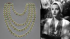 "Collar diseñado por Eugene Joseff (Joseff of Hollywood) para Hedy Lamarr en ""Lady of the Tropics"" (1939)"