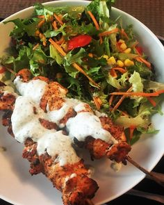 Syn Free Chicken Souvlaki and Tzatziki Slimming World Lunch Ideas, Slimming World Dinners, Slimming World Recipes Syn Free, Slimming Eats, Slimming Workd, Healthy Eating Recipes, Low Calorie Recipes, Diet Recipes, Cooking Recipes