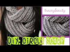 Really easy crochet tutorial for an infinity scarf.