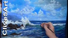 Acrylic Seascape Techniques , How to Paint Clouds Paint a Wave, in acryl...
