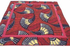 African tribal graphics in red gold white brown blue/black handmade quilted Shango Eleggua altar clo Altar Cloth, Tarot Spreads, Red Gold, Dark Red, African, Graphics, Graphic Design, Voodoo, Brown