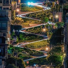 San Francisco California  Lombard Street in San Francisco is one of America's crookedest streets. The steep hilly street was created with sharp curves to switchback down the one-way hill past beautiful Victorian mansions. For an idea of how steep this street really is go two blocks up to Filbert Street and peer down over the ridge. Lombard is even steeper.    Photo cred @sh00tr74  Do you also have amazing travel stories to share with our community? Send us your favorite shot and Instagram…
