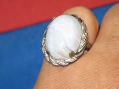 J-17 Vintage Ring 925 silver howite   jewels   size 5 1/2 by HipTrends2015 on Etsy