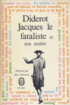 Jacques le fataliste et son maître, published by Le Livre de Poche, Paris, 1968. Design: Pierre Faucheux (no credit on cover)