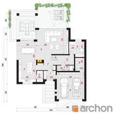 Dom w maciejkach Free House Plans, Modern House Plans, House Floor Plans, Morden House, Floor Plants, Fantasy House, Dream House Exterior, Planer, My House