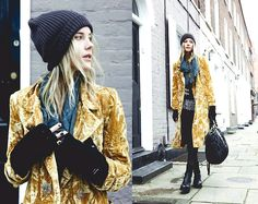 Poundland Beanie, Koshka Coat, From Nepal Top, Miu Miu Bag, Guess Jeans, Opening Ceremony Boots #fashionbag