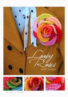 Como hacer una Rosa con Aros de Crochet - Patrones Crochet