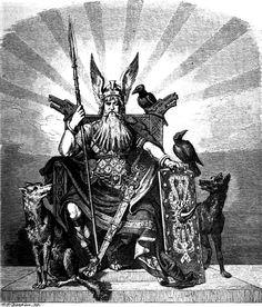Carl Emil Doepler – Odin with the wolves Geri and Freki