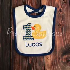 Bibs make a great finishing touch for birthday outfits.