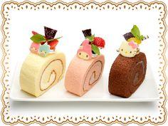 サンリオタウン スペシャルロールケーキセット (1,200円 each) @ Character Food Court (Japan) ♥ Dessert ★Little Twin Stars★