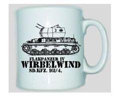 Tasse Flakpanzer IV Wirbelwind SD.KFZ 161/4 / mehr Infos auf: www.Guntia-Militaria-Shop.de