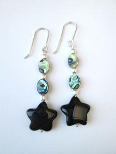 Abalone and Agate star earrings £5.25