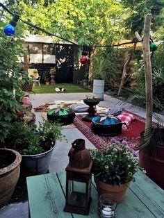 Bohemian garden make-over with vtwonen buitentegels