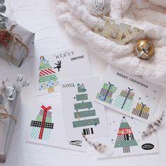 1年の感謝の気持ちを込めたクリスマスプレゼント。添えるクリスマスカードにもこだわりたいですよね。マスキングテープを使えば、誰でも簡単におしゃれなオリジナルクリスマスカードが作れますよ♪ Christmas Cards To Make, Noel Christmas, Xmas Cards, Greeting Cards, Hobbies And Crafts, Diy And Crafts, Message Card, Homemade Gifts, Washi