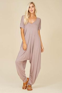 aa7c7bcec7 Sofia Harem Jumpsuits   Taupe Grey – GOZON Boutique Roll Up Sleeves