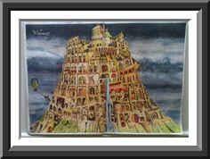 Colin Thompsons Seite 13 gemalt mit Koh-I-Noor und ergo soft Farben Und Softkreide für den Himmel