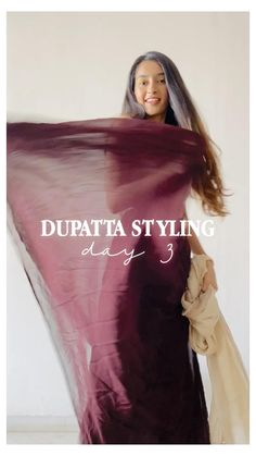 Indian Fashion Dresses, Dress Indian Style, Indian Designer Outfits, Girls Fashion Clothes, Duppata Style, Diy Fashion Hacks, Fashion Tips, Saree Designs Party Wear, Saree Wearing Styles