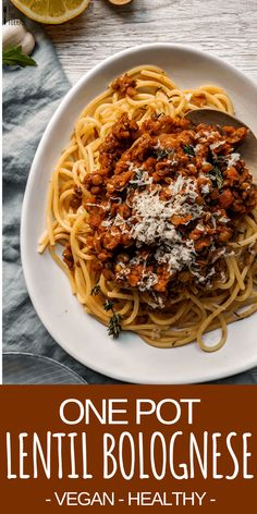 This easy, healthy vegan spaghetti … Delicious vegan red lentil bolognese recipe. This easy, healthy vegan spaghetti dish is slimming-world friendly, and perfect for eating healthy on a. Vegan Lentil Recipes, Vegan Dinner Recipes, Vegan Dinners, Veggie Recipes, Whole Food Recipes, Healthy Recipes, Red Lentil Pasta Recipes, Vegan Recipes Easy Cheap, Lentil Meals