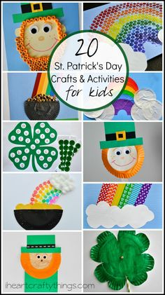20 St. Patrick's Day Crafts and Activities for Kids from iheartcraftythings.com.