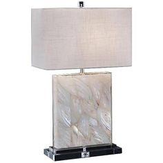 John Richard Mother of Pearl Encased Acrylic Table Lamp - #9T744 | Lamps Plus