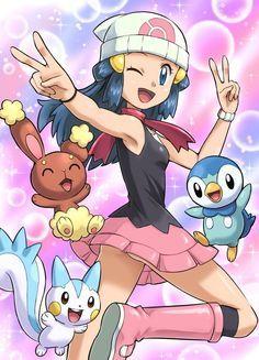 Resultado de imagem para Dawn pokemon