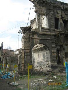 Earthquake ruins  Gyumri, Armenia