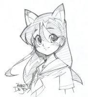 Catgirl Sketch by Banzchan