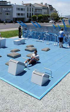 "public outdoor gym ""park"""