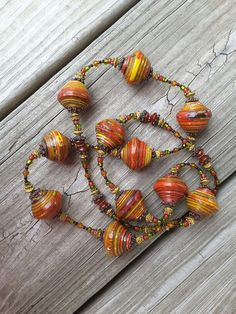 Paper Bead Necklace                                                                                                                                                      More