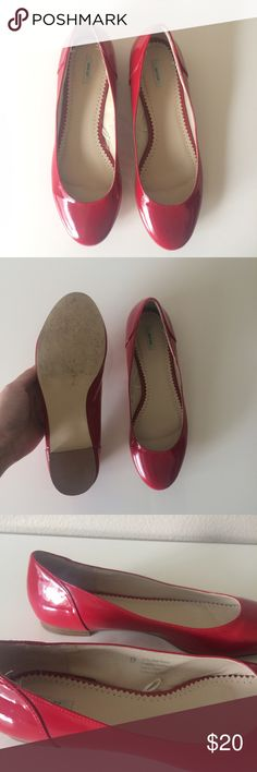 Urban Outfitters red patent flats Selling a super cute, pair of red patent leather flats bought at urban outfitters and worn once. Size 9. Box not included. Urban Outfitters Shoes Flats & Loafers