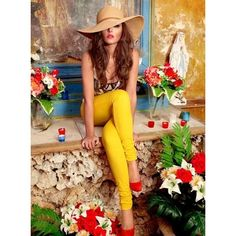 Cheryl Cole in Bright Yellow Ksubi Jeans Denimology found on Polyvore