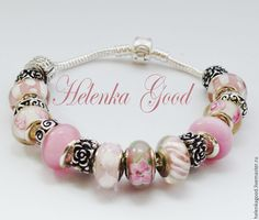 Купить Браслет Пандора Розовый 211 - бледно-розовый, розовый браслет, пандора, пандора стиль