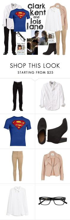 """Clark Kent and Lois Lane"" by army-woman ❤ liked on Polyvore featuring Dockers, Banana Republic, Under Armour, Acne Studios, River Island, superheroes and fandom"