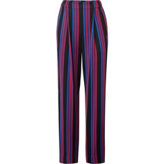 Diane von Furstenberg Stripe Soft Pants ($60) ❤ liked on Polyvore featuring pants, stripe pants, striped pants, diane von furstenberg, diane von furstenberg pants and striped trousers