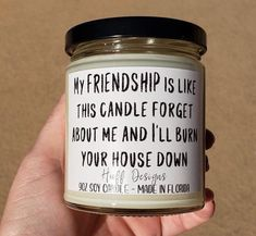 Best Friend Gift / Coworker gift / Funny gift for friend / Christmas gift for friend / Gift for Friend / Funny Goodbye Gift / Soy Candle – presents for boyfriend birthday Best Friend Bday Gifts, Funny Gifts For Friends, Presents For Best Friends, Christmas Gifts For Friends, Bff Gifts, Diy Presents, Goodbye Gifts For Coworkers, Goodbye To Coworker, Sister Gifts
