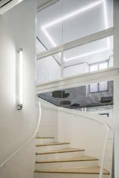 Modern elements, including this glass-enclosed spiral staircase, transform a historic home in Tardets into a tourist destination with local charm. Spiral Staircase, Stairs, Indoor, France, Architecture, Gallery, Modern, House, Construction