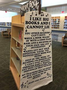 A library in Virginia's display featuring an adapted version of the lyrics to Baby Got Back by Sir Mix-A-Lot became an online hit. The rap, called Baby Got Books, includes reading related lyrics Library Humor, Library Books, Library Ideas, Got Books, I Love Books, Book Memes, Book Quotes, This Is A Book, The Book