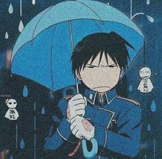 Roy doesn't like rainy day Roy Mustang, Edward Elric, Fullmetal Alchemist Brotherhood, Dark Fantasy, Manga Anime, Anime Art, Otaku Anime, Mustang Wallpaper, Aesthetic Anime
