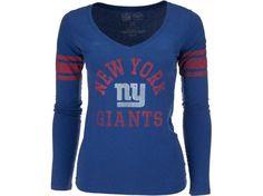 New York Giants  47 NFL Womens Homerun Long Sleeve T-Shirt 322e9b372